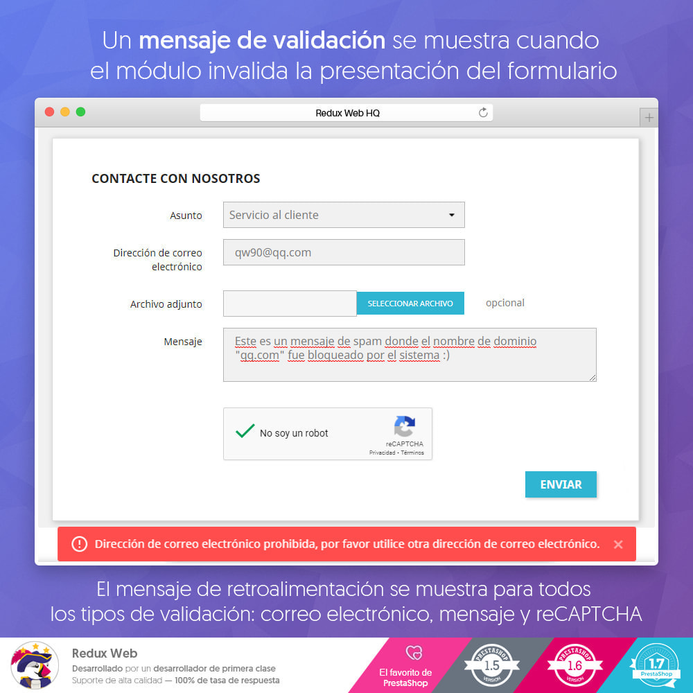 module - Seguridad y Accesos - Avanzado Google Re-Captcha Antispam y Cuentas Falsas - 10
