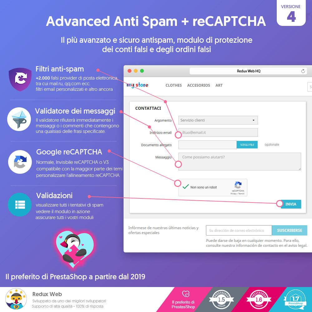 module - Security & Access - Avanzato Google Re-Captcha Anti Spam & Conti Falsi - 1