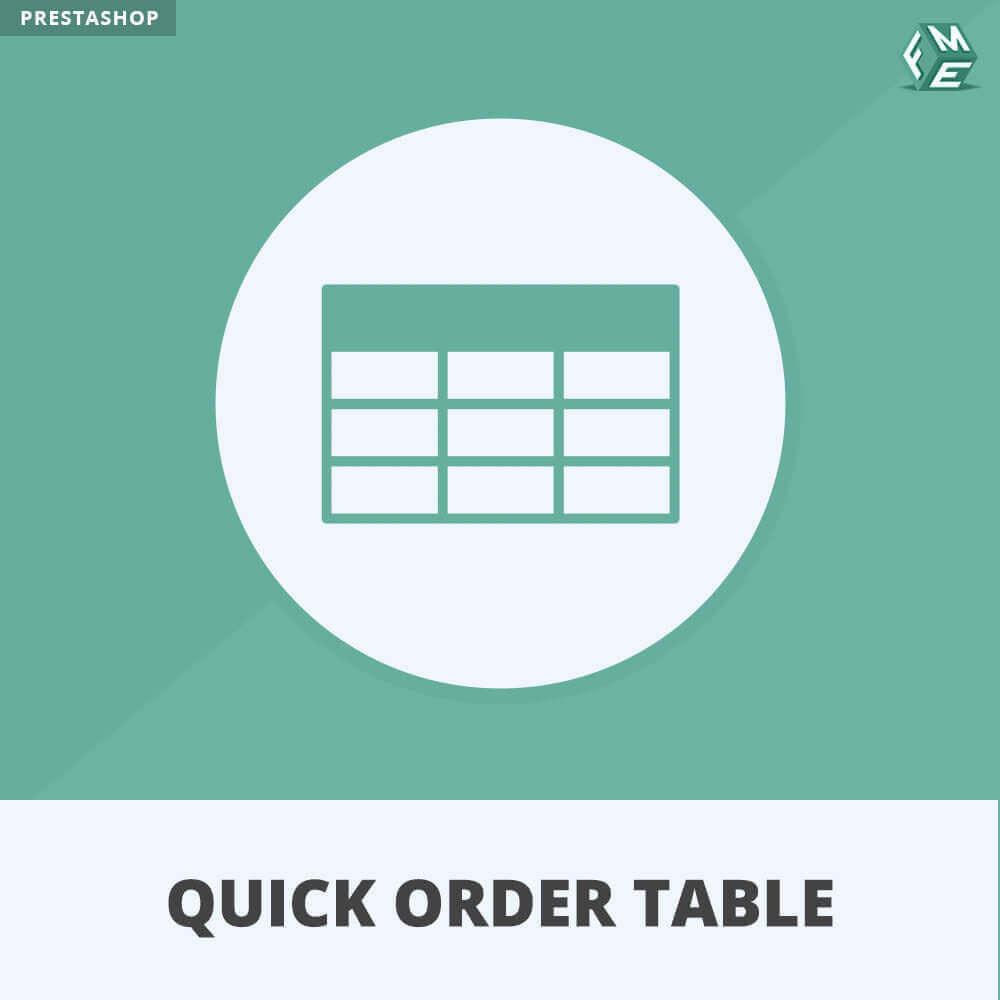 module - Auftragsabwicklung - Quick Order Table - 1