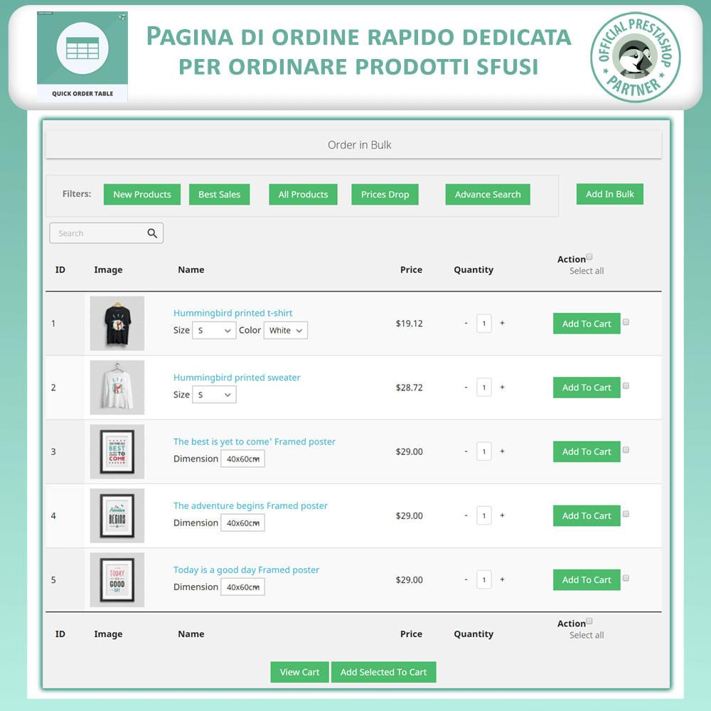 module - Gestione Ordini - Tabella Ordine Rapido - 2