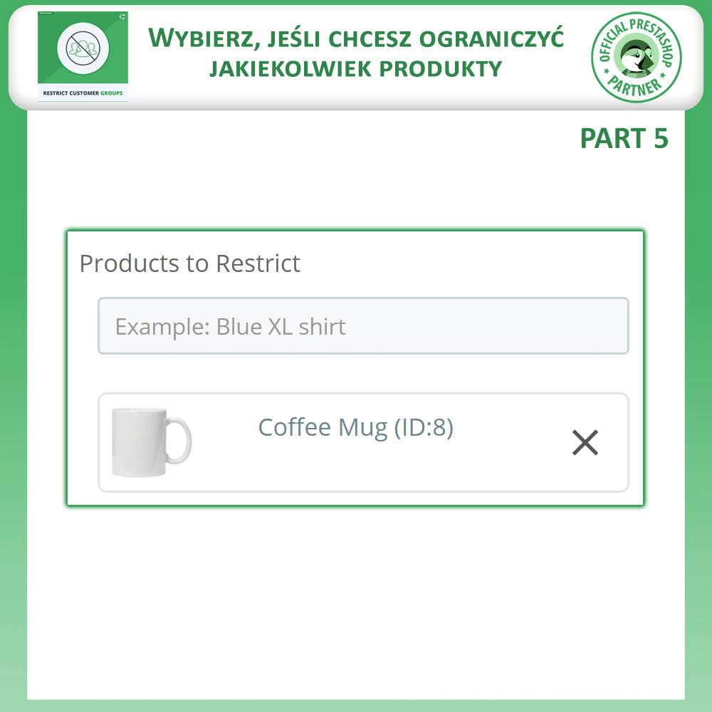 module - Dodatkowe informacje & Zakładka produktu - Ogranicz Produkty, Kategorie i CMS Według Grup Klientów - 8