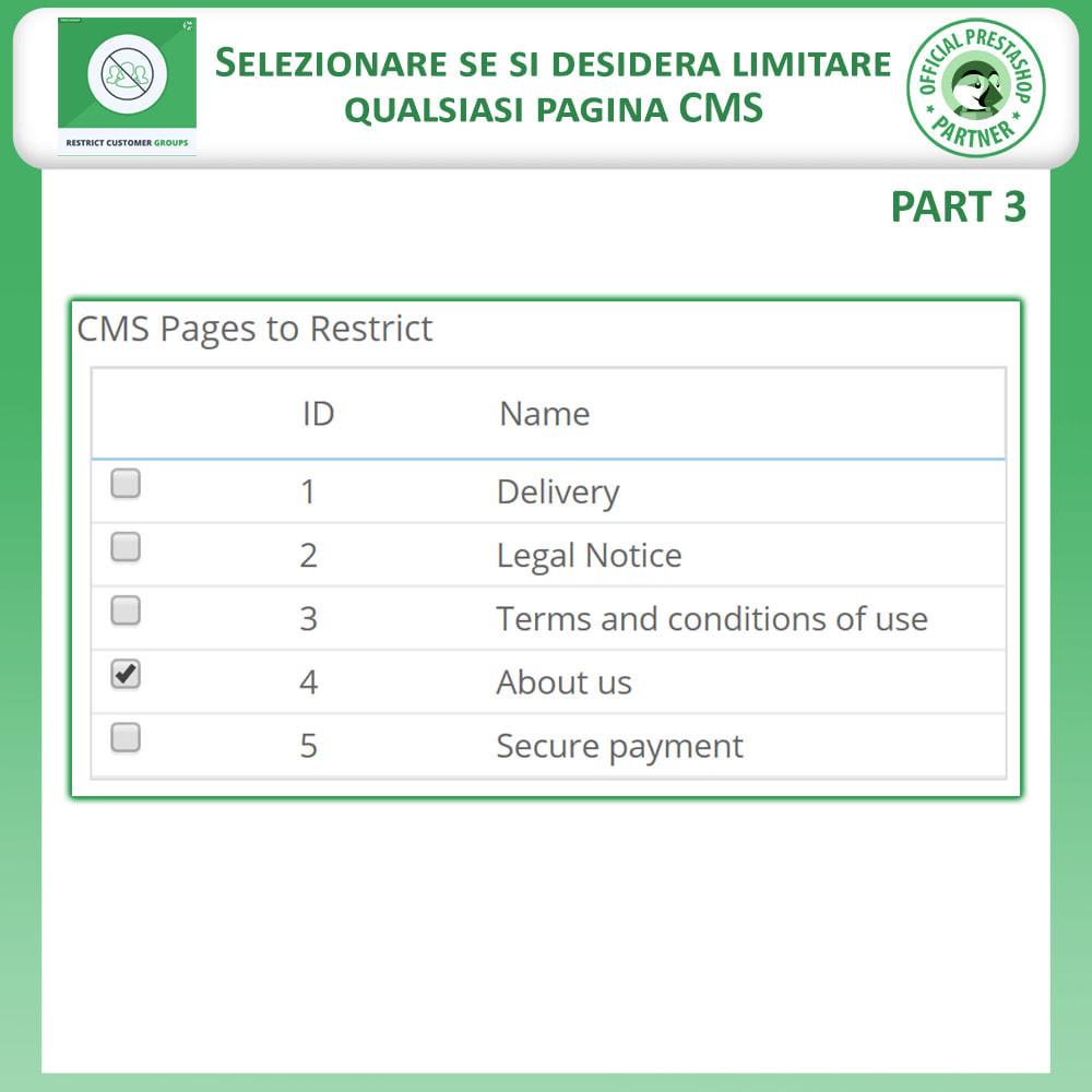 module - Altre informazioni & Product Tab - Limita prodotti, categorie e CMS per gruppi di clienti - 6