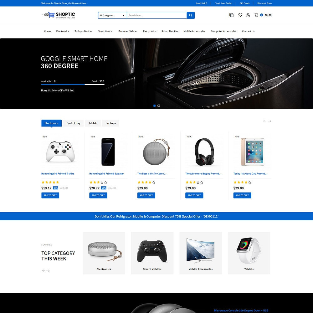 theme - Electronics & Computers - Shoptic - Online Electronic Super Store Template - 2
