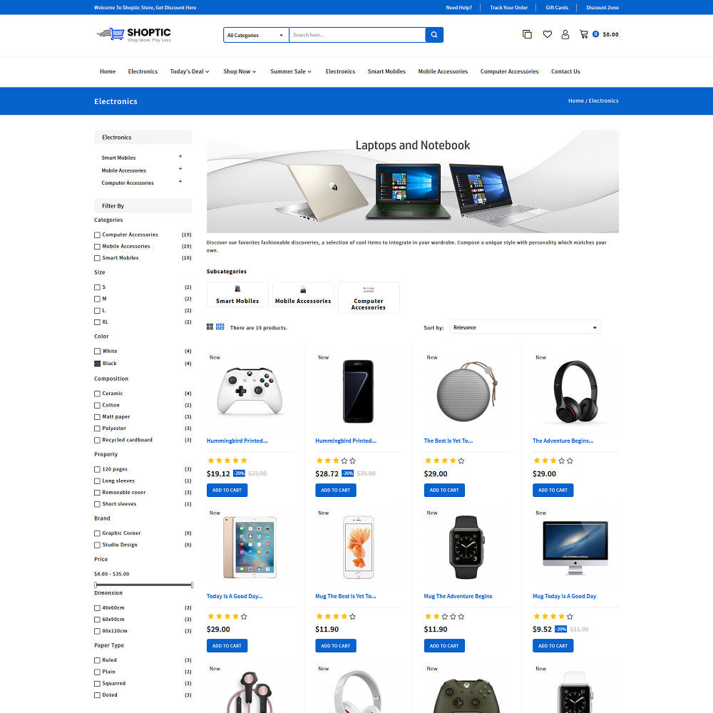 theme - Electronics & Computers - Shoptic - Online Electronic Super Store Template - 3