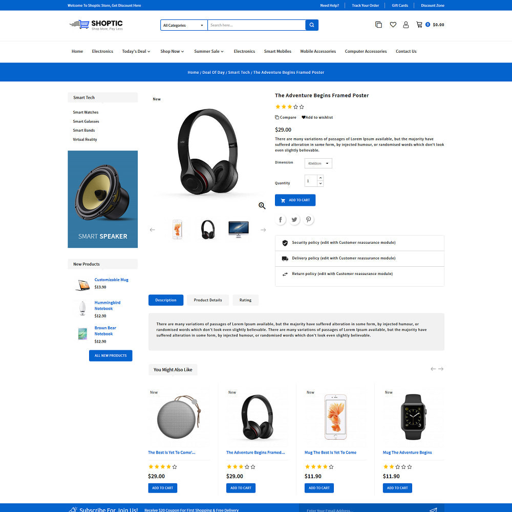 theme - Electronics & Computers - Shoptic - Online Electronic Super Store Template - 4