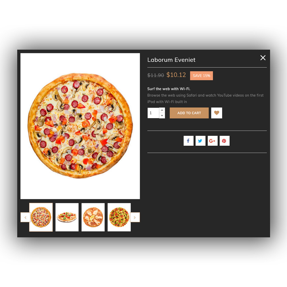theme - Lebensmittel & Restaurants - Pizza - Food Store - 9