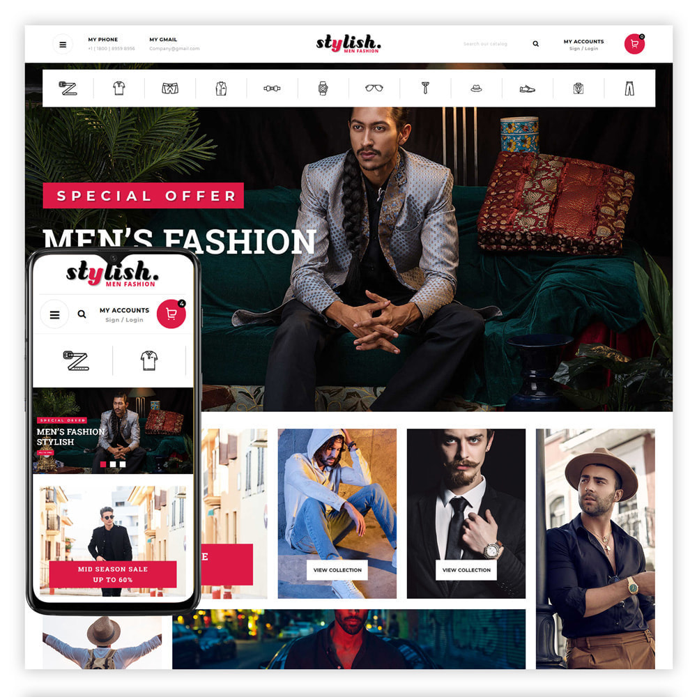 theme - Fashion & Shoes - Stylish - Mens Fashion Store - 1