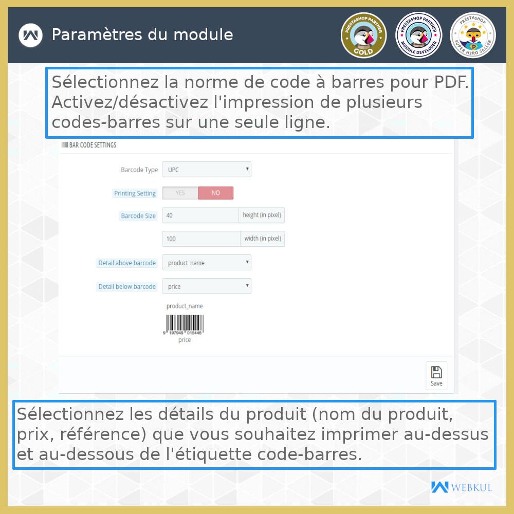 module - Préparation & Expédition - Étiquette code-barres de produit | générateur de code - 7