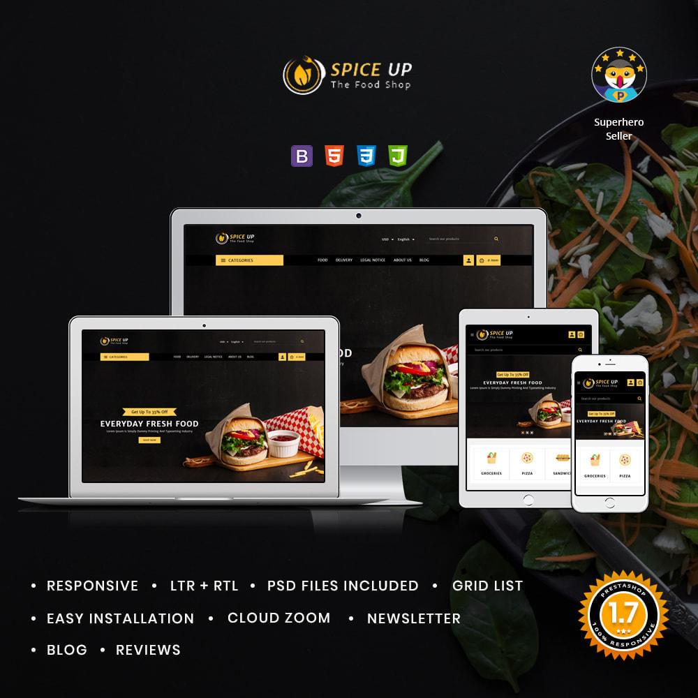 theme - Alimentation & Restauration - Spiceup Food & Restaurant - 1