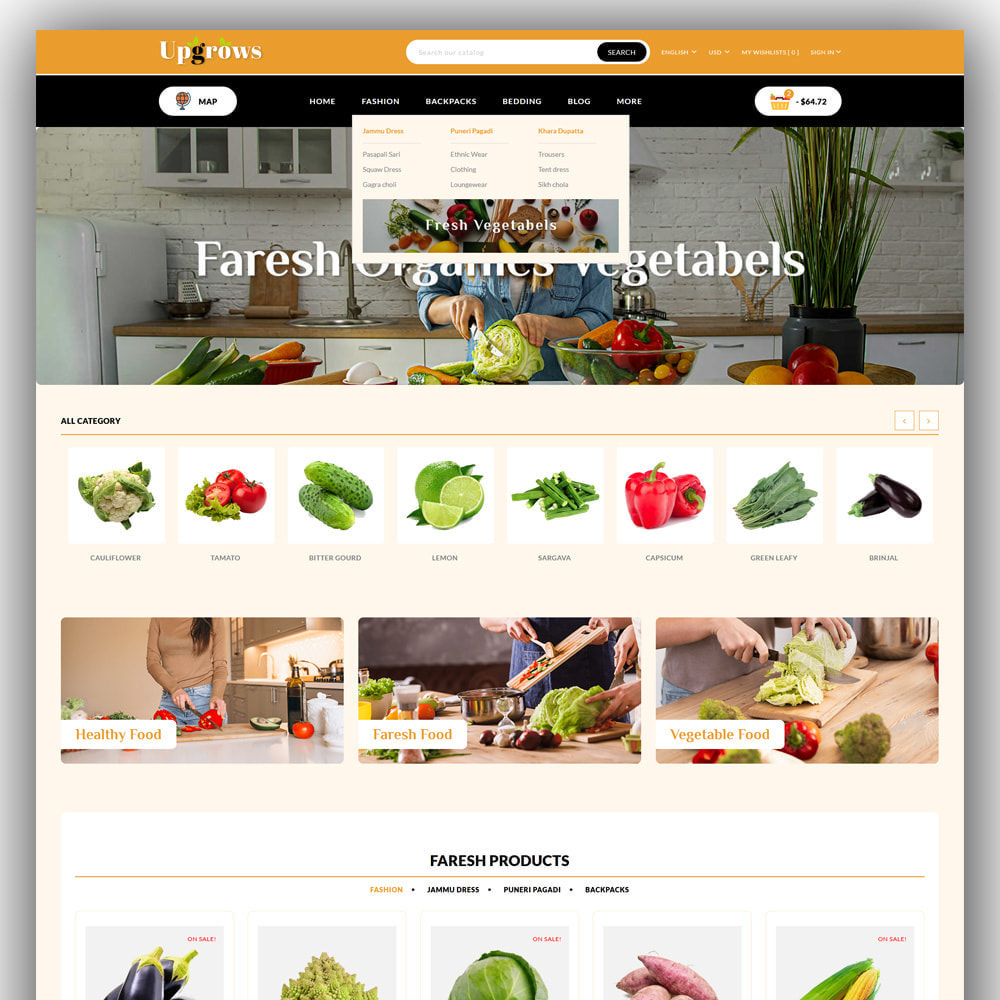 theme - Продовольствие и рестораны - Upgrows - Organic Vegetable Store - 2