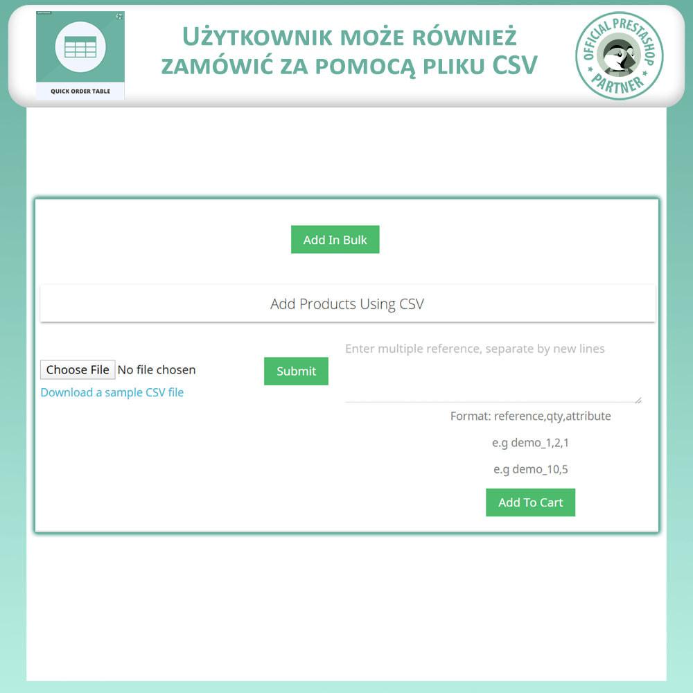 module - Zarządzanie zamówieniami - Tabela Szybkich Zamówień - 6