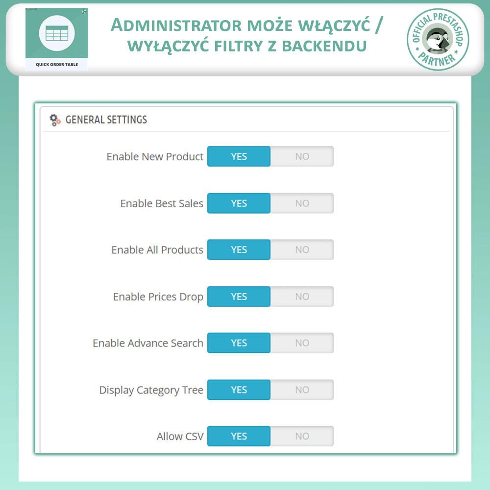 module - Zarządzanie zamówieniami - Tabela Szybkich Zamówień - 7