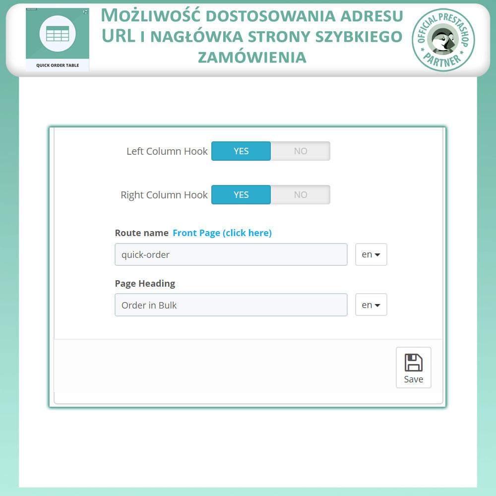 module - Zarządzanie zamówieniami - Tabela Szybkich Zamówień - 8