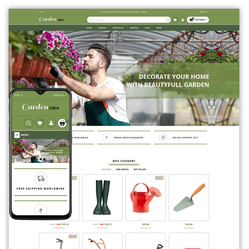 theme - Home & Garden - Gardenstow - Plant Store - 1