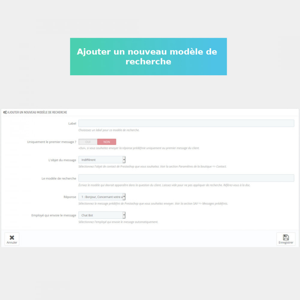 module - Service Client - SAV : réponses automatiques - 2