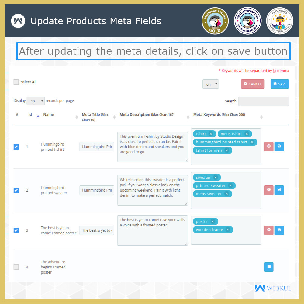 module - Fast & Mass Update - Custom Product & Category Meta Details - 5