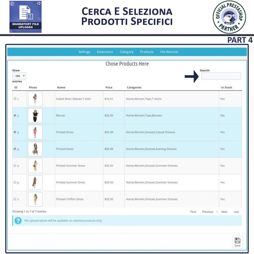 module - Altre informazioni & Product Tab - Caricamento File Obbligatorio - 8