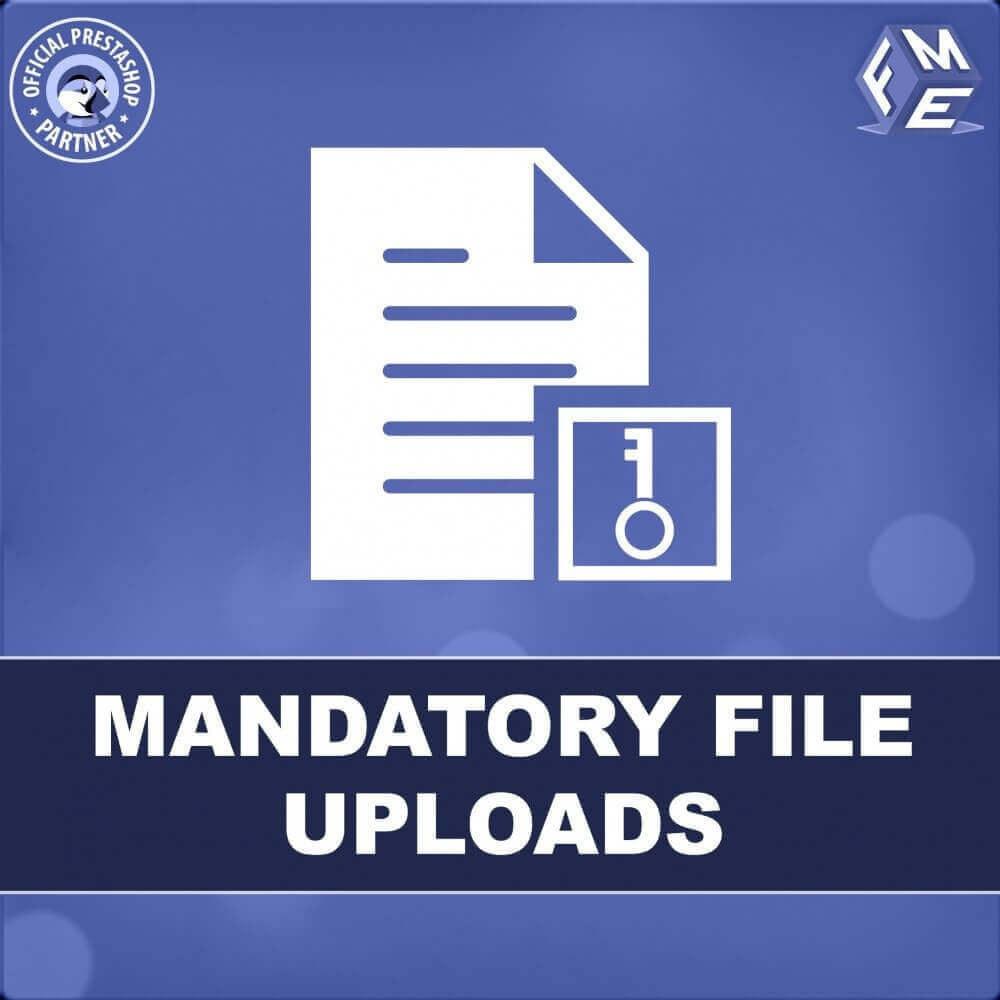 module - Bijkomende Informatie - Verplichte Bestandsupload - 1