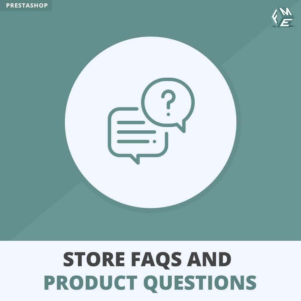module - FAQ (questions fréquentes) - Questions fréquentes + Questions sur les produits - 1