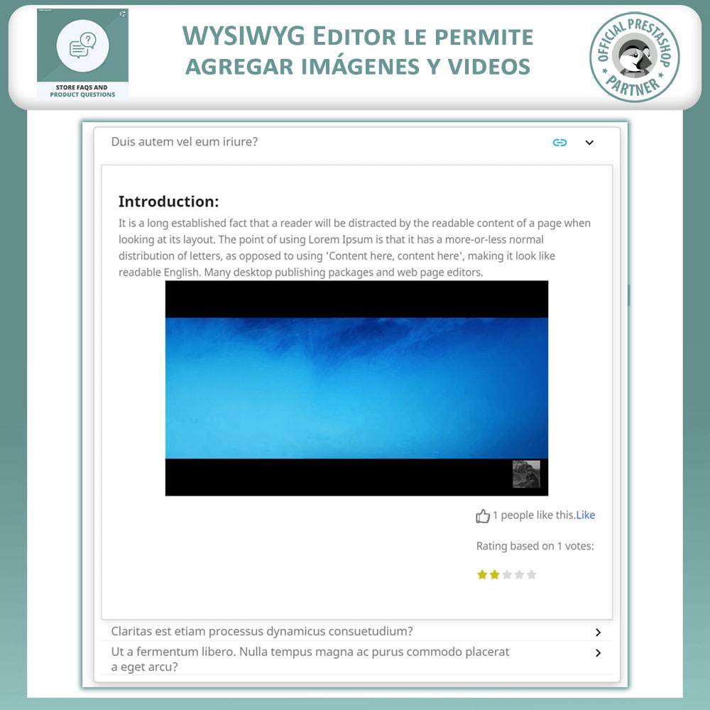 module - Preguntas Frecuentes - Reguntas Frecuentes + Preguntas del Producto - 6