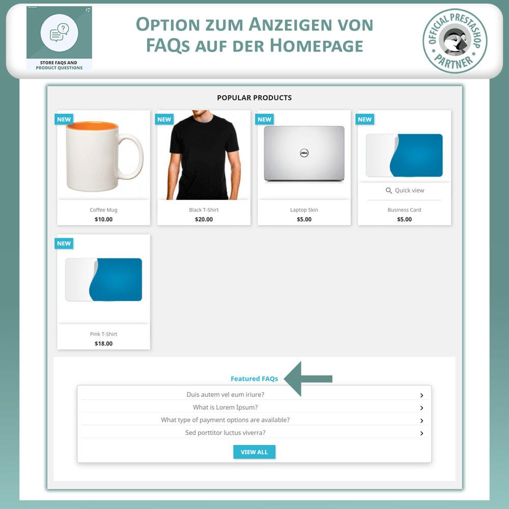 module - FAQ (Häufig gestellte Fragen) - FAQs + Produkt Fragen + Geschäft FAQs und Produkt FAQs - 2
