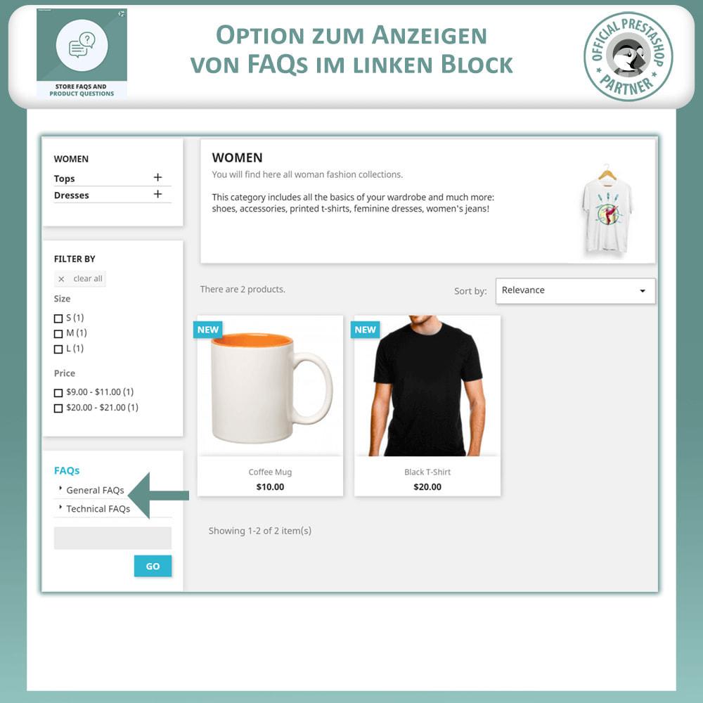 module - FAQ (Häufig gestellte Fragen) - FAQs + Produkt Fragen + Geschäft FAQs und Produkt FAQs - 7