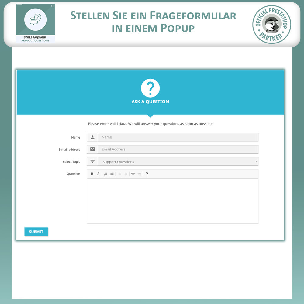 module - FAQ (Häufig gestellte Fragen) - FAQs + Produkt Fragen + Geschäft FAQs und Produkt FAQs - 9