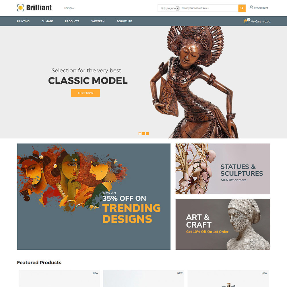 theme - Arte & Cultura - Brilliant Handcraft Collection - Art Store - 3
