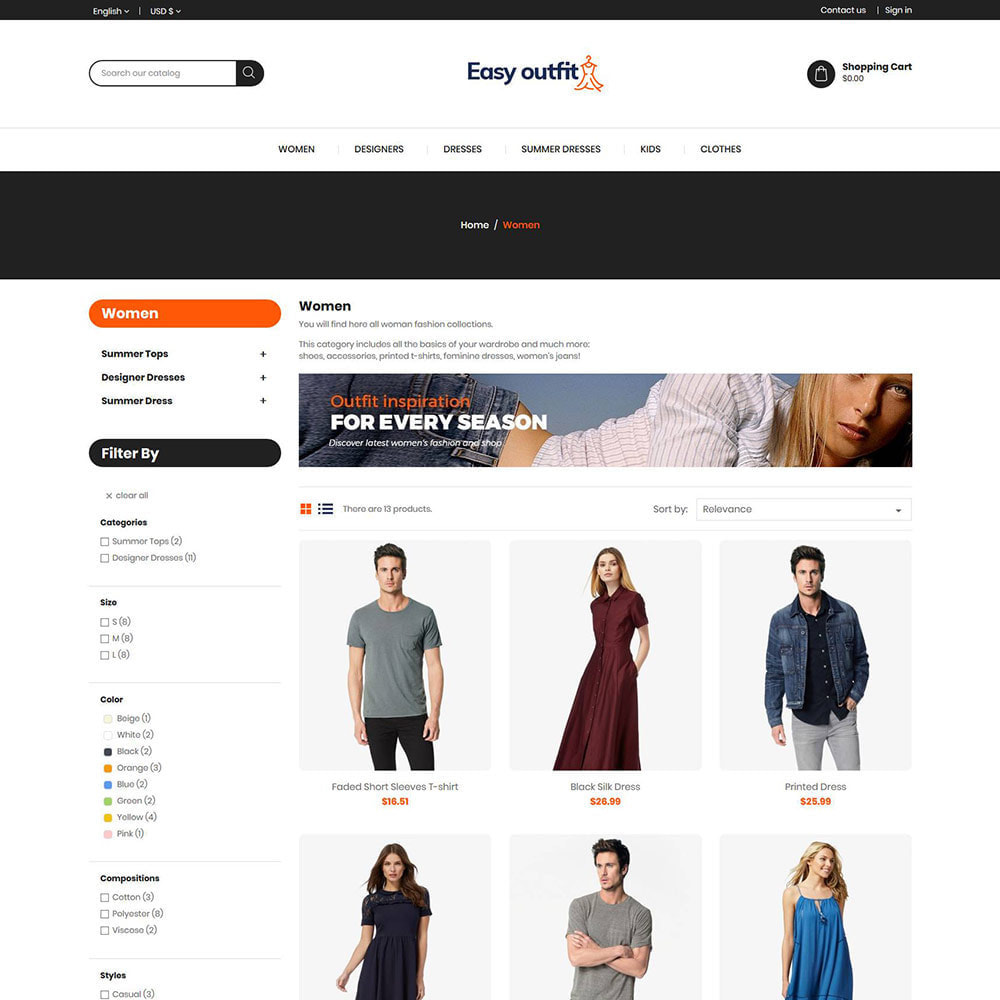 theme - Fashion & Shoes - Easy Outfit - Fashion Cloth Store - 3