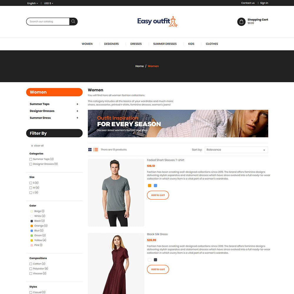 theme - Fashion & Shoes - Easy Outfit - Fashion Cloth Store - 4