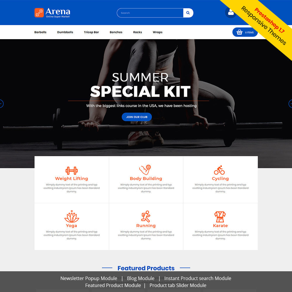 theme - Sports, Activities & Travel - Arena Gym - Fitness  Bodyfits Dumble Store - 1