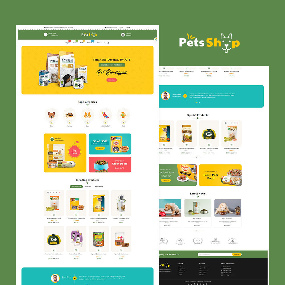 theme - Animals & Pets - Pets Care & Animal Shop - 2