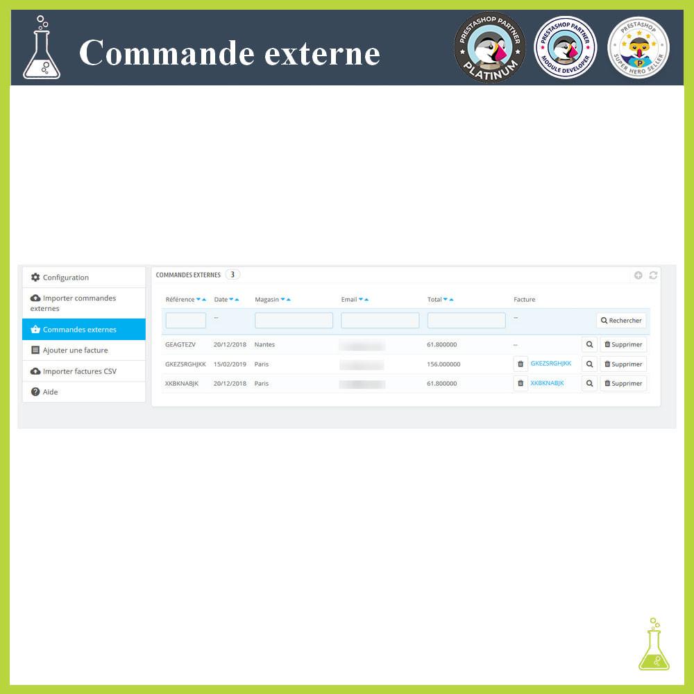 module - Gestion des Commandes - Importer des commandes externes - 5