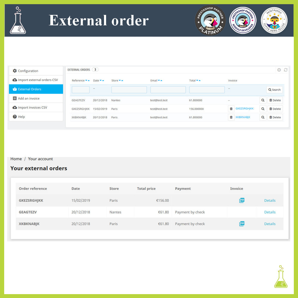 module - Gestión de Pedidos - Import external orders - 1