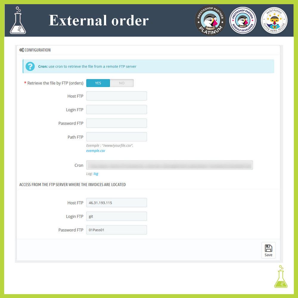 module - Gestión de Pedidos - Import external orders - 3