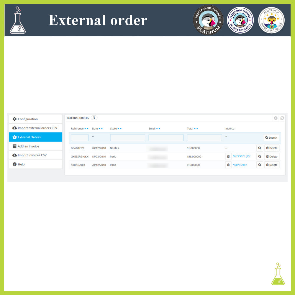module - Gestión de Pedidos - Import external orders - 5