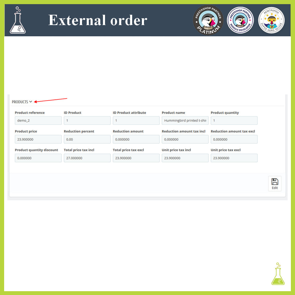 module - Order Management - Import external orders - 8