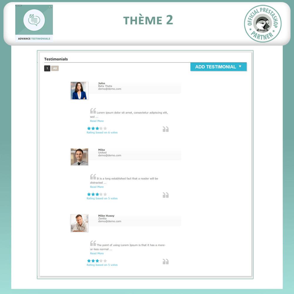 module - Avis clients - Témoignages avancés - Avis Clients avec Photos - 3