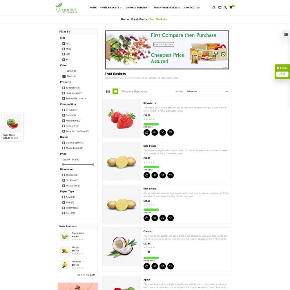 theme - Продовольствие и рестораны - Organick Organic Store - 4