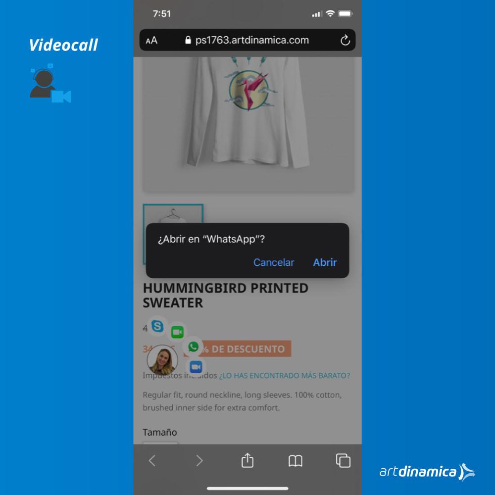 module - Asistencia & Chat online - Soporte al cliente por video: WhatsApp, Facetime, Zoom - 3