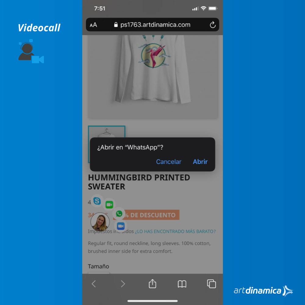 module - Suporte & Chat on-line - Video Customer Support WhatsApp, Facetime, Skype & Zoom - 3