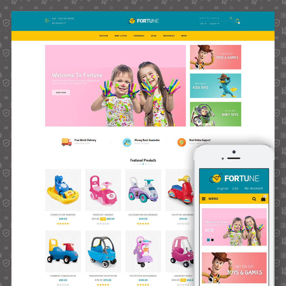 theme - Kids & Toys - Fortune - Kids Store - 1