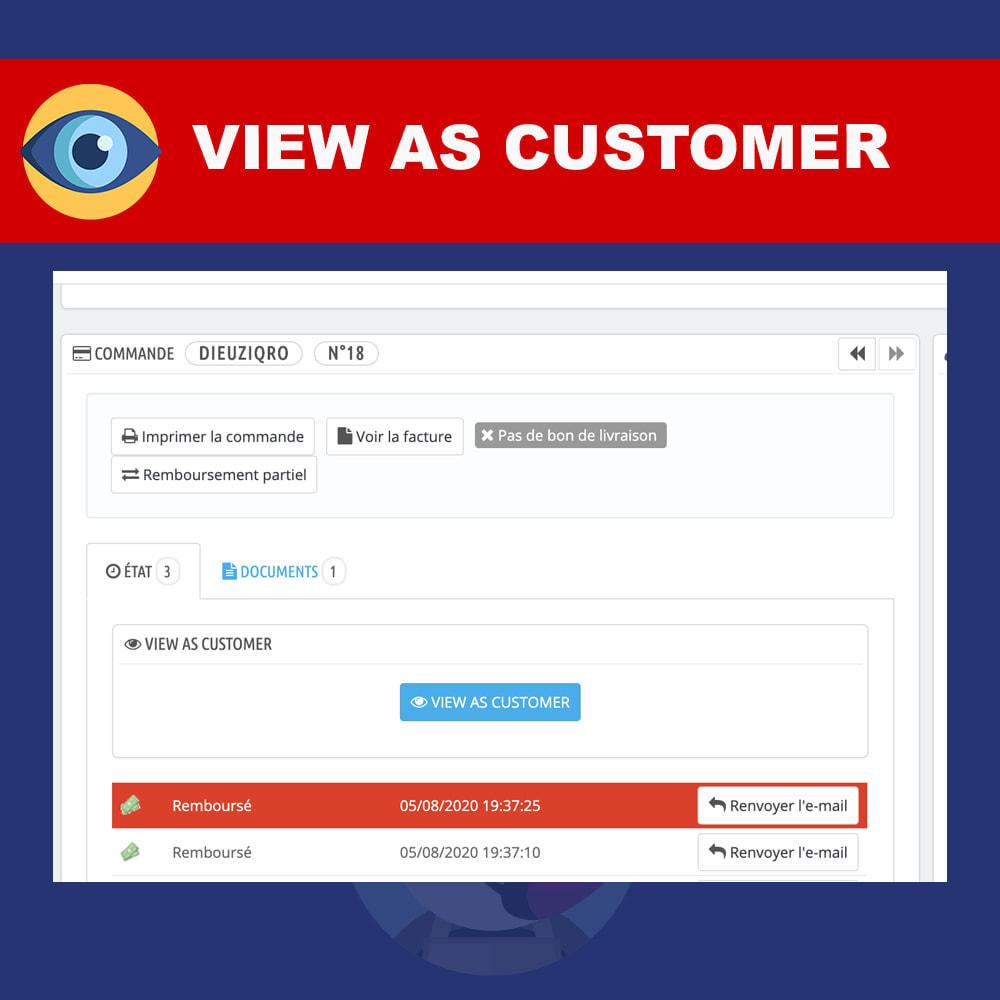 module - Gerenciamento de pedidos - View as customer - 3
