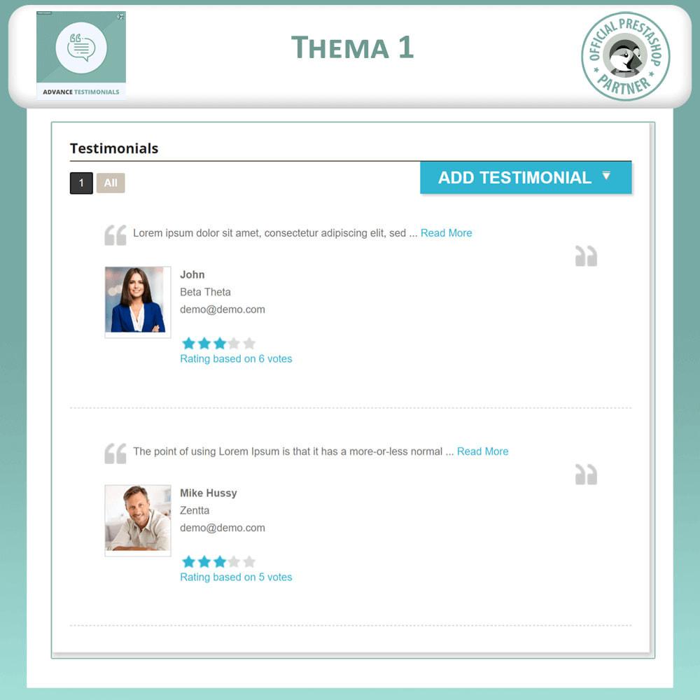 module - Kundenbewertungen - Fortgeschrittene Testimonials - Kundenrezensionen - 2