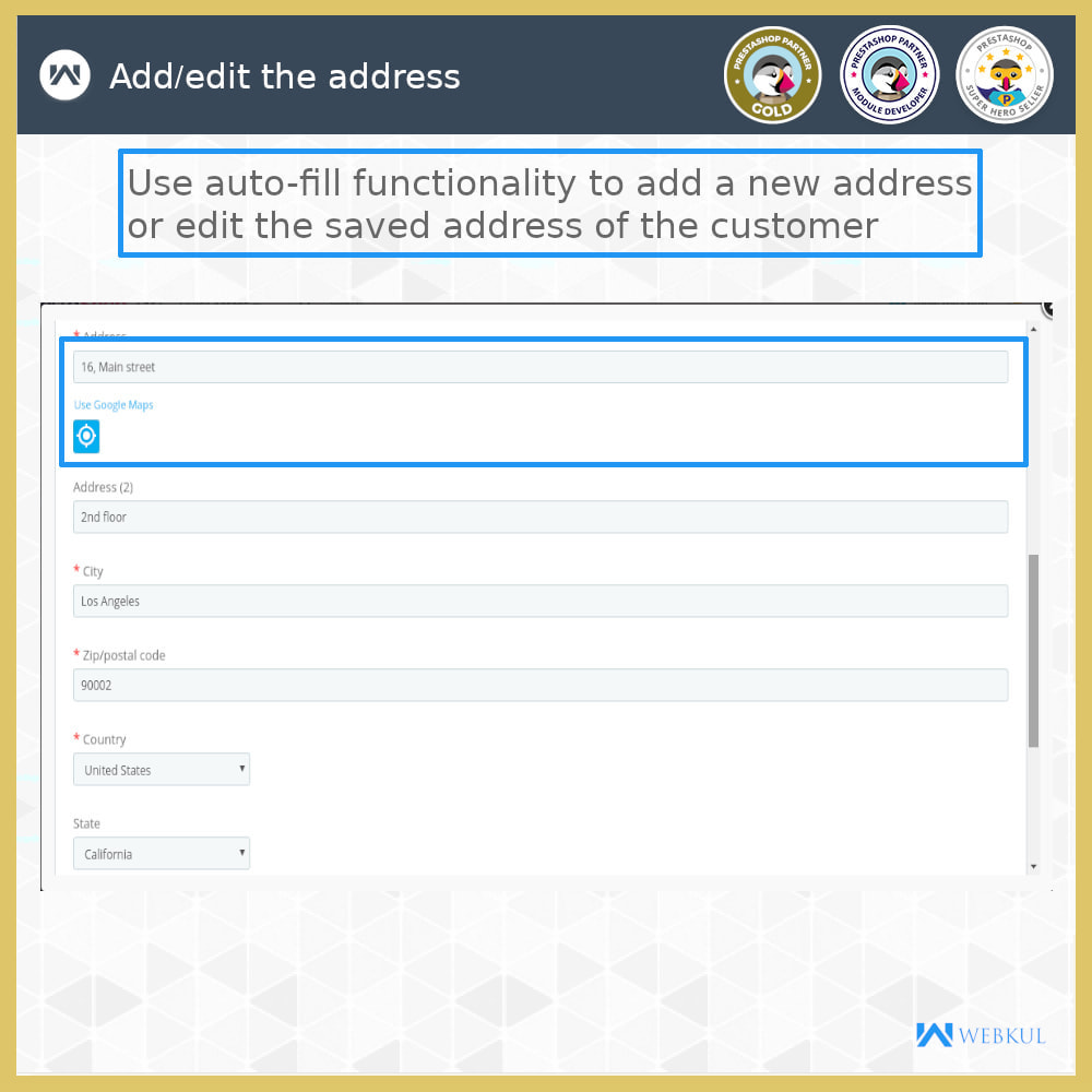 module - International & Localization - Auto-fill Address Form | Google Addresses - 13