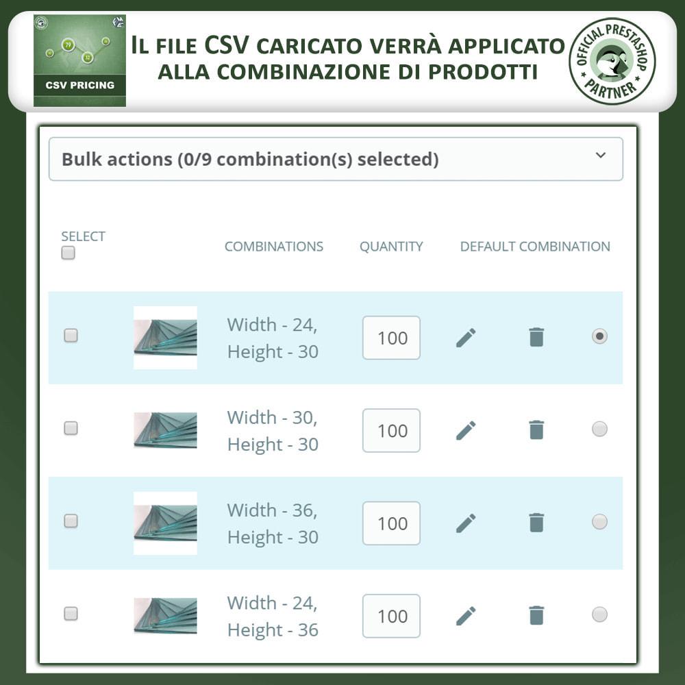 module - Grandezze & Unità di misura - CSV Pricing – Prezzi basati sull'Area - 5