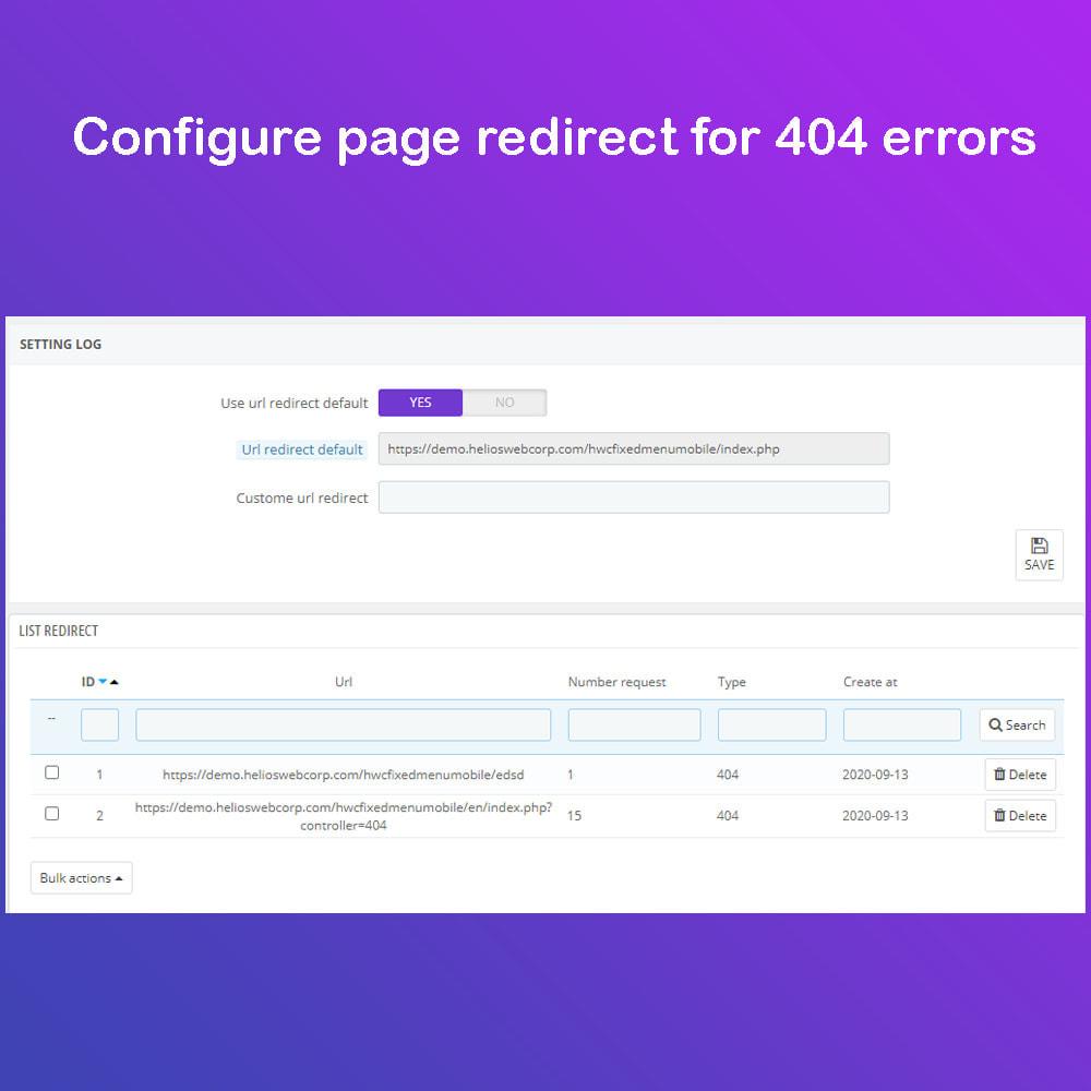 module - URL y Redirecciones - Super Redirections - 301,302 And 404 Urls - SEO - 3