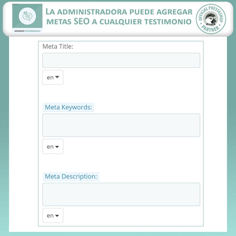 module - Comentarios de clientes - Testimonios anticipados - Reseñas de Clientes - 12