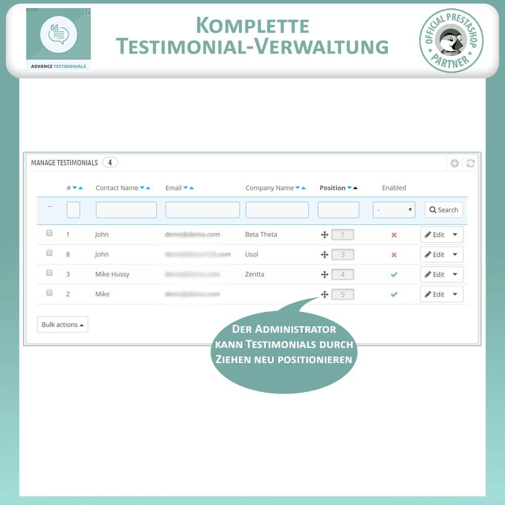 module - Kundenbewertungen - Fortgeschrittene Testimonials - Kundenrezensionen - 11