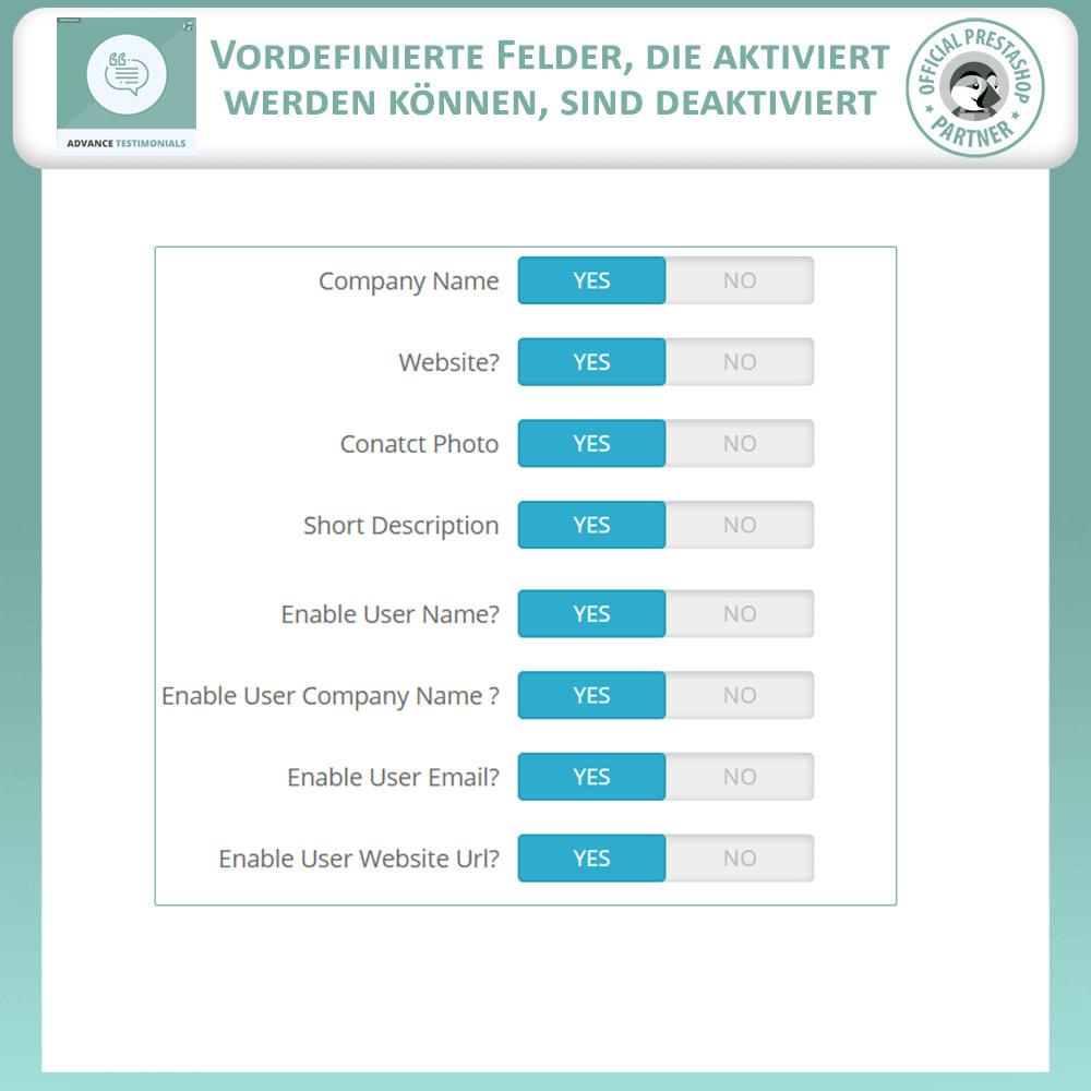 module - Kundenbewertungen - Fortgeschrittene Testimonials - Kundenrezensionen - 16
